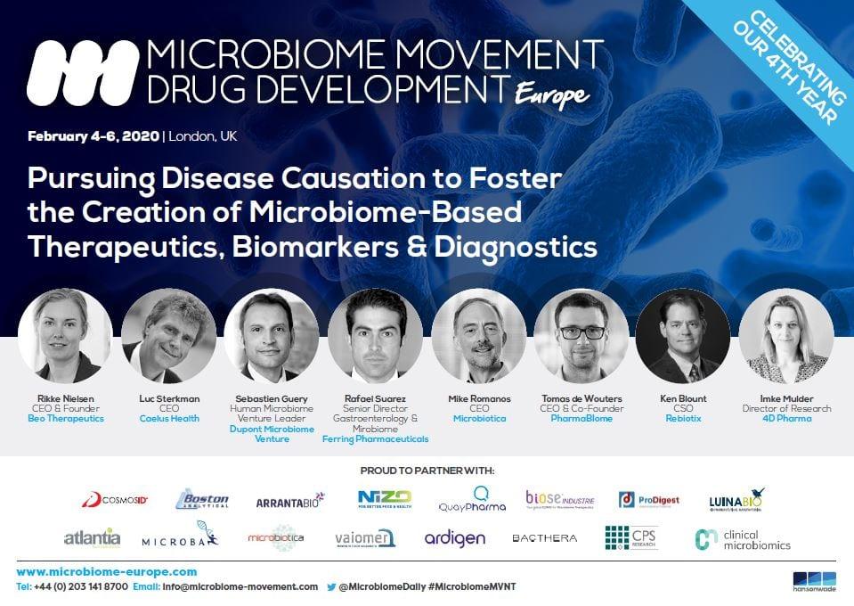 Microbiome Movement Drug Development Europe - Full Event Guide